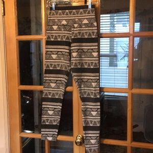 American apparel high waisted printed leggings